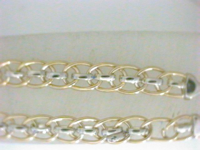 Sterling SIlver/14kt gold bracelet by Leslie